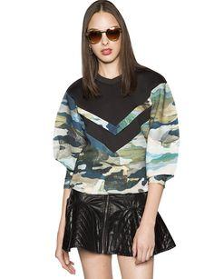 Cameo Camouflage Sweatshirt - Statement Sweatshirt - $152