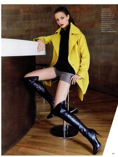 GRAZIA Italia - October issue n.40-2013 _ Pag. 94: (promotional shooting) Total look by Atos Lombardini. #FW201314 #outfit #fashion