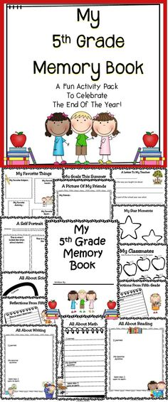 This end of the year memory book is a fun and engaging activity pack to celebrate all of your students accomplishments in the classroom. Click here to download this end of year memory book!
