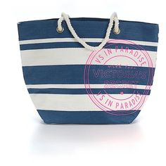 Pre-owned Victoria's Secret Tote: Blue Women's Bags ($37) ❤ liked on Polyvore featuring bags, handbags, tote bags, blue, purse tote, victoria secret tote bag, tote purses, blue hand bag and man bag