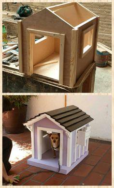 Casa de perro hecha con madera reciclada #mueblesreciclados #innovapuebla…
