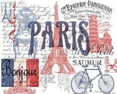 Trademark Fine Art 'Paris Tray Canvas Art by Jean Plout, Size: 14 x 19 Artist Canvas, Canvas Art, Stencil, Paris 3, Paris France, Paris Poster, Framed Prints, Art Prints, Decoupage Paper