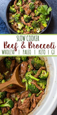 This easy slow cooker recipe makes cooking beef and broccoli at home so simple. It comes together in the crock pot incredibly fast, and is a great meal prep recipe or weeknight meal because you just dump the ingredients, and come back later Slow Cooker Beef Broccoli, Healthy Slow Cooker, Healthy Crockpot Recipes, Slow Cooker Meal Prep, Slow Cooker Keto Recipes, Fast Crock Pot Recipes, Paleo Crock Pot, Healthy Broccoli Recipes, Broccoli Beef Crock Pot Recipe