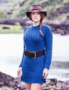 Aran Wool Sweater Dress by Natallia Kulikouskaya for West End Knitwear, Ireland