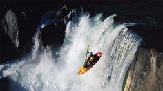 Waterfall kayaking in Hawaii