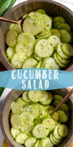 Cucumber Salad Cucumber Salad This cold and refreshing cucumber salad is the perfect snack or side on a warm day! This cold and refreshing cucumber salad is the perfect snack or side on a warm day! Cucumber Recipes, Chicken Salad Recipes, Vegetable Recipes, Diet Recipes, Vegetarian Recipes, Cooking Recipes, Healthy Recipes, Recipes For Cucumbers, Healthy Chicken