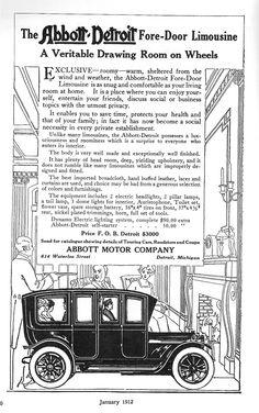 1912 Abbott-Detroit Limo. Company FinanceDetroit MotorsCar ...