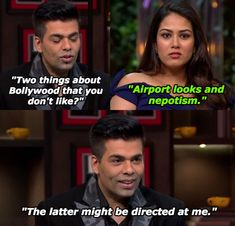 """And when Mira took this subtle shot at Karan. 18 Hilarious Moments From Shahid Kapoor And Mira Rajput's """"Koffee With Karan"""" Episode Best Love Proposal, Latest Funny Jokes, Proposal Videos, Koffee With Karan, Mira Rajput, Best Friends Funny, Romantic Status, Shahid Kapoor, Girl Thinking"""