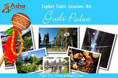 Asha Tours & Travels wishes you a Happy Gudi Padwa and Prosperous New Year. Visit us: www.ashatat.com #Ashatours #Travels  #Wishes   #Prosperous   #NewYear