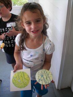 Pasta Machine Prints, printmaking with children