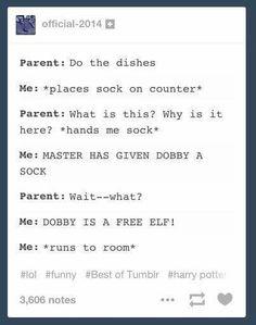 #Dobby #HarryPotter #Funny