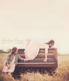The anticipation of touching the keys- lying on top of the piano. Piano Photography, Sibling Photography, Senior Photography, Creative Photography, Children Photography, Photography Ideas, Vintage Photography, Mini Session Themes, Mini Sessions
