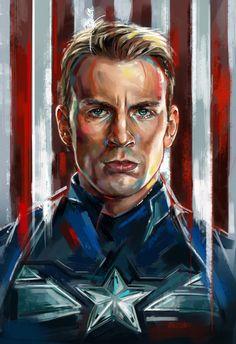 Captain America Portrait - Robert Bruno