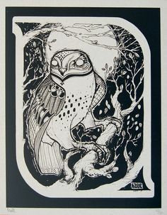 David Hale: Night Owl print