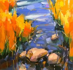 """Daily Paintworks - """"Below The Surface"""" - Original Fine Art for Sale - © Cathleen Rehfeld"""