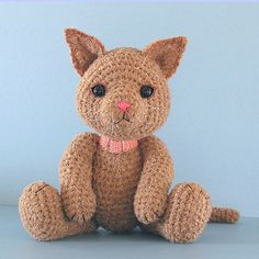 FREE Amigurumi Kitty Cat Crochet Pattern and Tutorial by Sue Pendleton