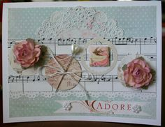 Handmade Shabby Chic ADORE Card Millinery by ReverieCreations