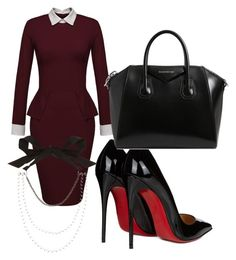 """""""Work Related"""" by shenaturallychic on Polyvore featuring Christian Louboutin, Givenchy and Lanvin"""
