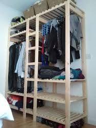 Image result for furniture from pallets wardrobe storage