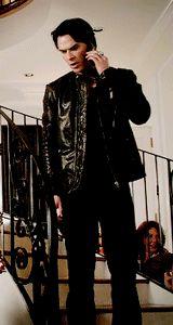Ian Somerhalder as Damon Salvatore ❤❤❤ Damon And Stefan Salvatore, Ian Somerhalder, Vampire Diaries, Supernatural, Punk, Beauty, Style, Fashion, Swag