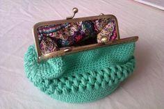 10% descuento.monederos crochet  algodón mercerizado,tela e hilo,silicona y pegamento ganchillo,crochet