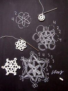 #Crochet snowflake, free pattern by VMSomⒶ KOPPA.