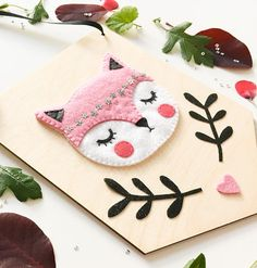 Your place to buy and sell all things handmade Felt Diy, Handmade Felt, Felt Crafts, Fabric Crafts, Sewing Crafts, Diy And Crafts, Felt Hair Accessories, Felt Animal Patterns, Felt Banner