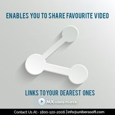Enables You To Share Favourite Video................... #videoplayer #HDvideo #musicplayer #movieplayer #song #videos #mxvideoplayer