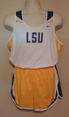 LSU TIGERS MENS TRACK/RUNNING UNIFORM NCAA TEAM ISSUED #Nike #LSUTigers