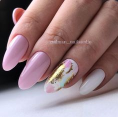 """If you're unfamiliar with nail trends and you hear the words """"coffin nails,"""" what comes to mind? It's not nails with coffins drawn on them. It's long nails with a square tip, and the look has. Hair And Nails, My Nails, Almond Shape Nails, Manicure E Pedicure, Foil Nails, Foil Nail Art, Super Nails, Blue Nails, Trendy Nails"""