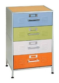 High Quality Amazon.com: Elite Products Locker Multicolor 4 Drawer Dresser: Furniture U0026  Decor