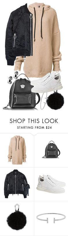 """Untitled #20696"" by florencia95 ❤ liked on Polyvore featuring Unravel, Versace, Nicopanda, Filling Pieces and Humble Chic"