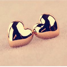 71312b0ed E358 Hot Selling Earing New Gold Silver Plated Heart Stud Earrings  Personality For Women Wedding Jewelry Accessories Wholesale
