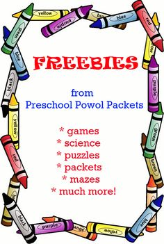 HUNDREDS of FREE preschool printables!! All subjects, dozens of themes, loads of fun! Perfect for preschool, and many great for kindergarten and older kids!