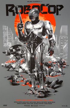 Robocop January 2016 Size: 24 x Client: Grey Matter Art Art Direction: Gabz Sold out. 80s Movie Posters, 80s Movies, Movie Poster Art, Good Movies, Fan Poster, Man In Black, Culture Pop, Movies And Series, Alternative Movie Posters