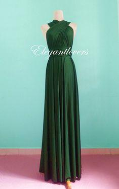 Dark Olive Wedding Dress Bridesmaids Dress от Elegantlovers