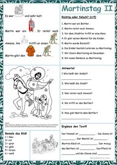 Martin& Day 2 - Martin& Day 2 You are in the right place about school background Here we offer you the most b - Hl Martin, German Festival, German Resources, Halloween, Homeschool, Language, Teaching, How To Plan, Education