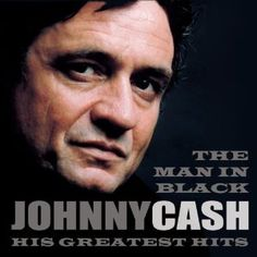 "The album cover of ""Johnny Cash - The Man in Black: His Greatest Hits."" It consists of 2 discs; each disc contains 15 songs. It was released in 1999."