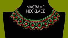 This video shows the two types of necklaces. First one is in Egyptian style and the second one is in Christmas colors :) You can use your own colors if you w...