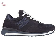 Hogan Rebel chaussures baskets sneakers homme en daim r261 rebel allacciato blu EU 43.5 HXM2610R670BVHU810 - Chaussures hogan (*Partner-Link)