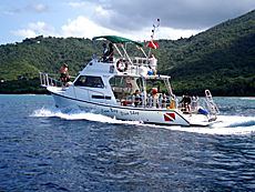 St Croix Cane Bay 36' Newton Dive Boat