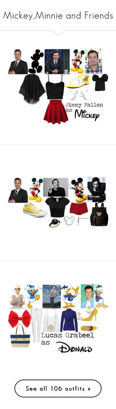 """Mickey,Minnie and Friends"" by themadhatress24 ❤ liked on Polyvore featuring WearAll, Vince Camuto, Relaxfeel, Disney, Eugenia Kim, J.Crew, Converse, Ivanka Trump, Pomellato and Alice + Olivia"