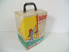 Vintage Skipper Doll Case - Retro White Vinyl Barbie Doll Carrying Case - Vintage Mattel Fashion Doll Barbie's Sister with Sail Boat Graphic $39.00 by DivineOrders