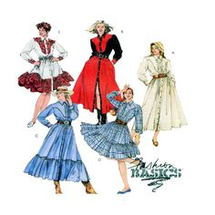 5 Style Western Dress McCalls 6413 Button by FindCraftyPatterns