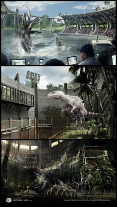 Check out 'Jurassic World' concept art by Gadget-Bot Productions! http://conceptartworld.com/?p=40141