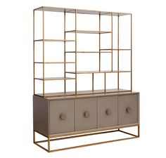 Emerson Bookshelf- can be placed on top of a console, 2 separate pieces