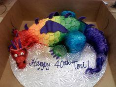 Rainbow Dragon cake