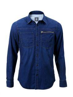 G-STAR RAW Long Sleeved Denim Shirt 83600E692471 Blue   Central saved by #ShoppingIS