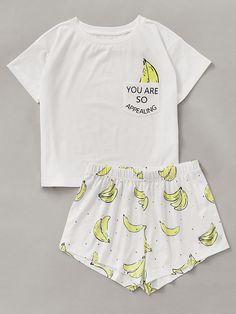 7e8bbdf2ae Niedlicher Schlafanzug, Süße Pyjamas, Zweiteilige Sets, Strampler, Süße  Outfits, Kleiderschrank,