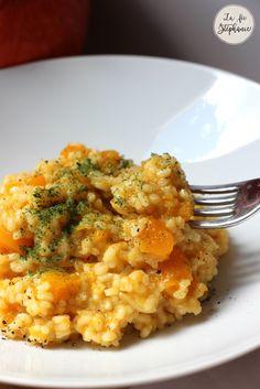 Le mois d'octobre est arrivé, et si on préparait un risotto à la courge? Recette végétale